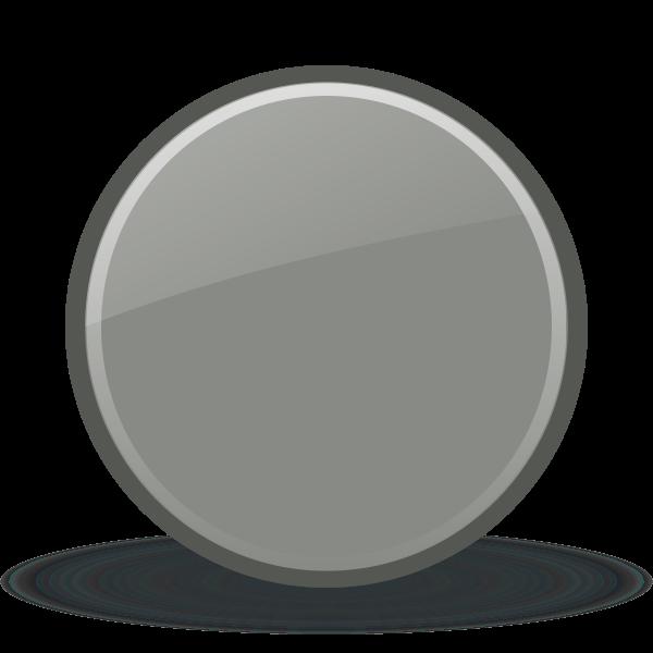 Grey shiny button vector clip art