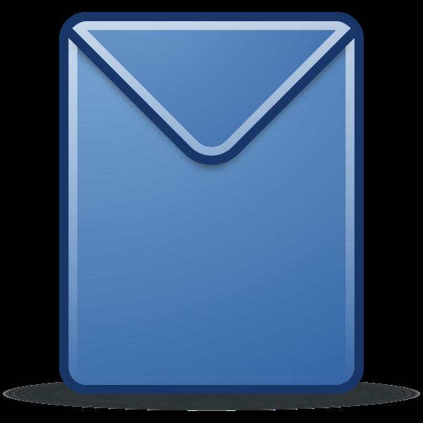 Blue envelope image