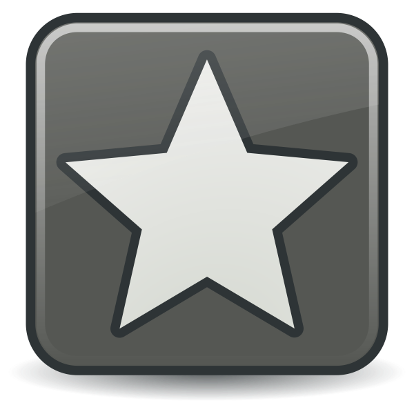 Vector graphics of grayscale star icon
