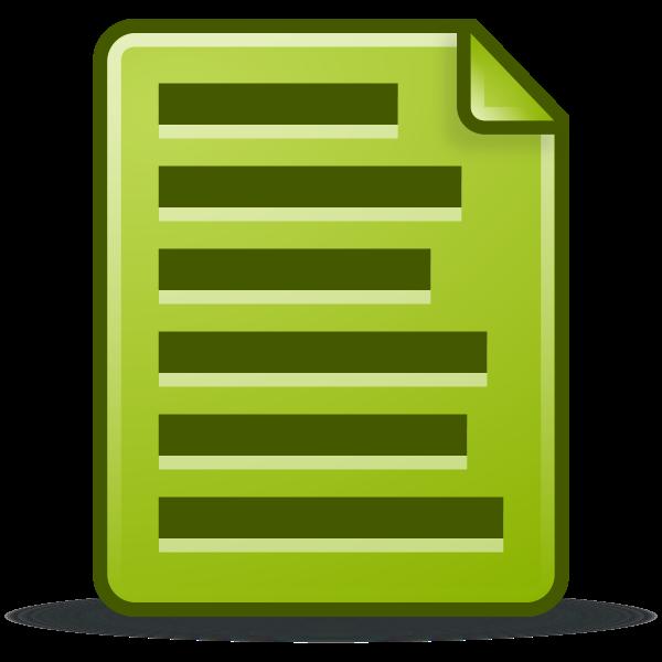 Green text