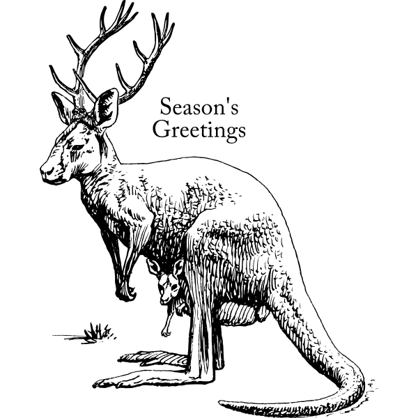 Vector clip art of a roodeer