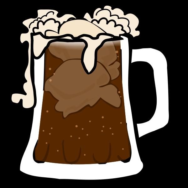 Vector image of beer