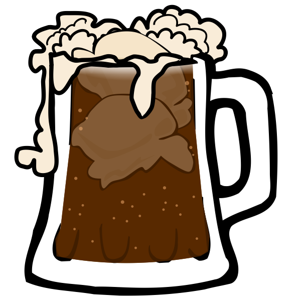 Vector image of beer