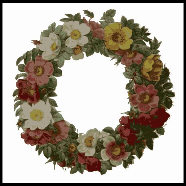 rose wreath color