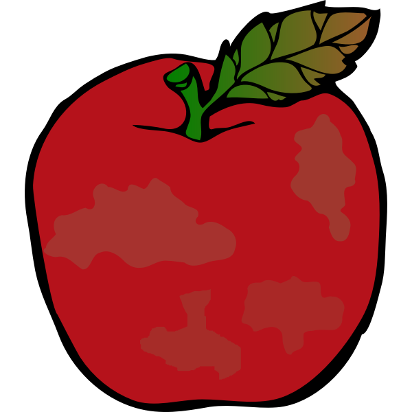 rotten red apple