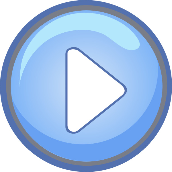 "Blue ""play"" button in vector format"