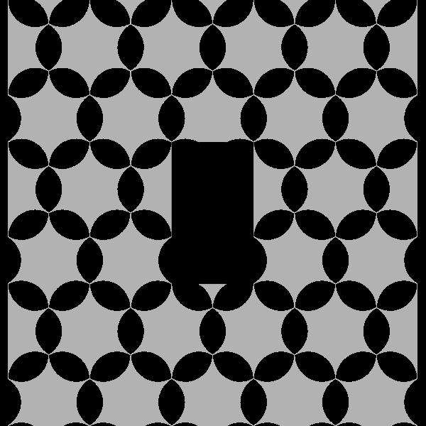 round hexagon clover tile
