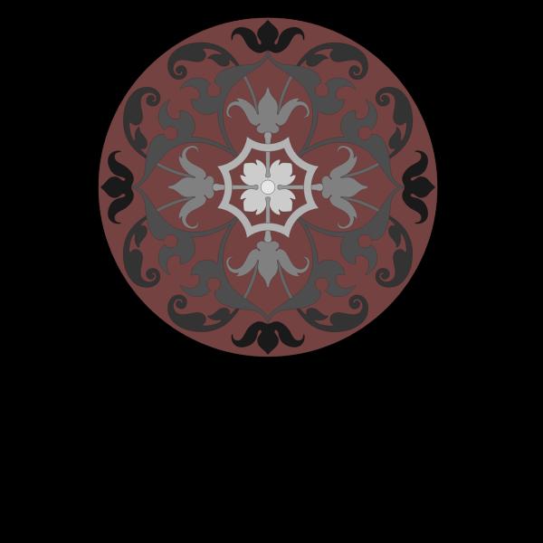 round ornamental panel 1