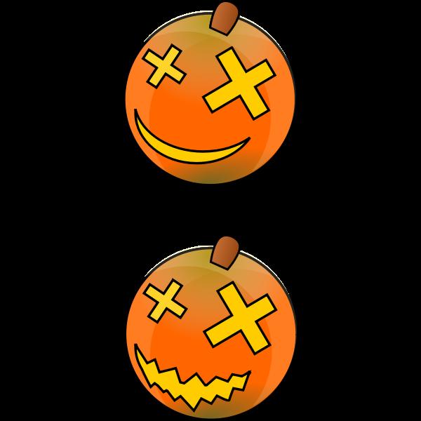 Color Halloween pumpkins vector image
