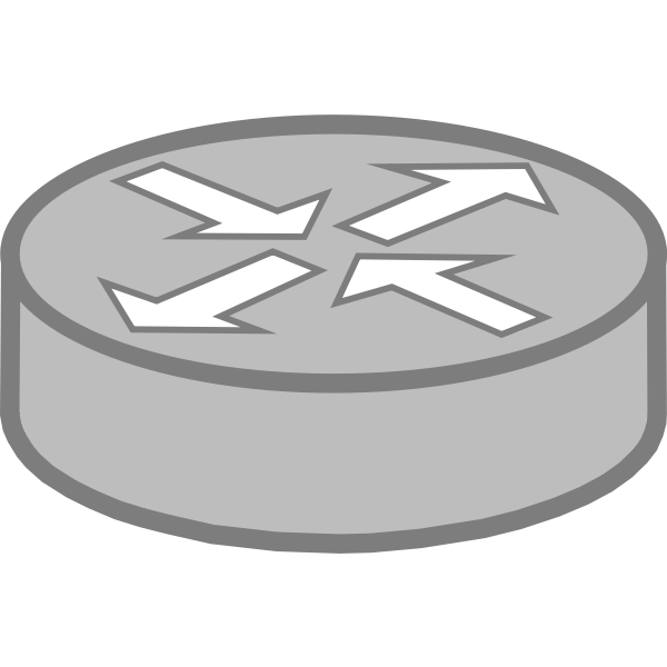 Router symbol vector image