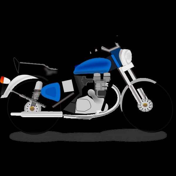 Royal motorcycle vector