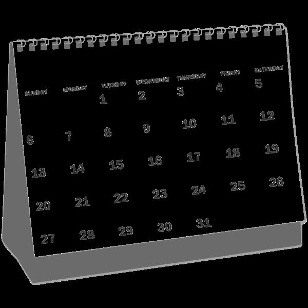 Desk calendar icon vector drawing