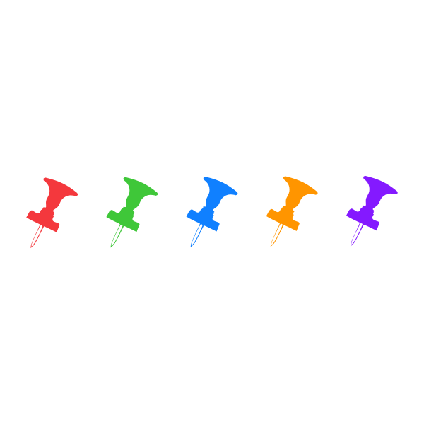Colored pins image