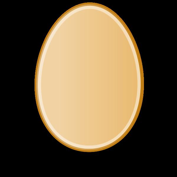 Orange egg vector image