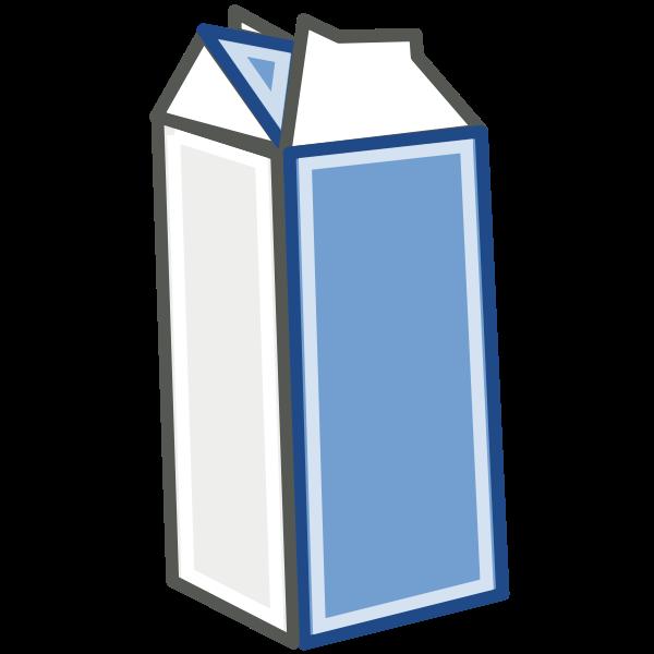 Vector image of milk in carton