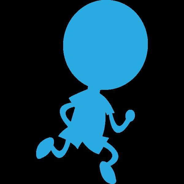 Running man shadow vector image
