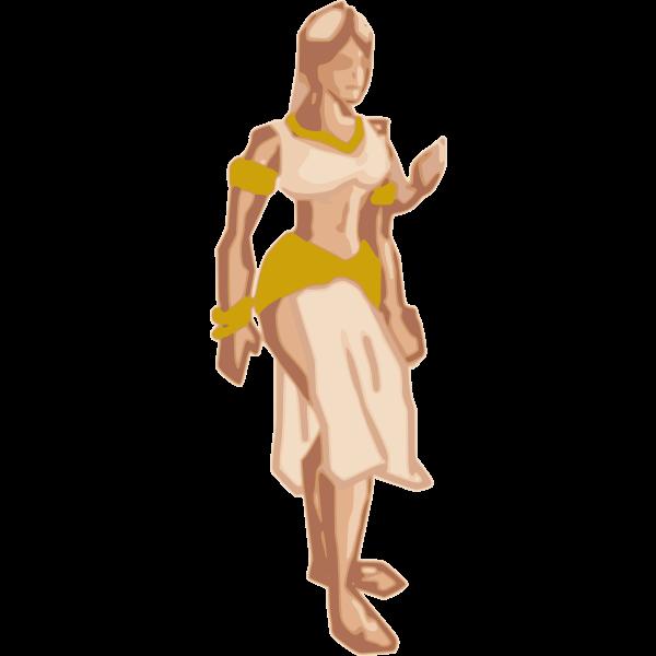 Fantasy Woman Vector Drawing