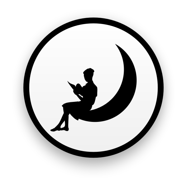 Girl on the moon icon vector image
