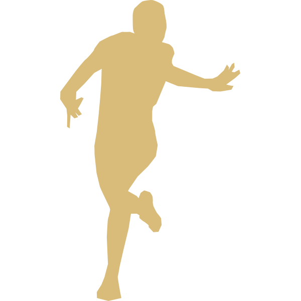 Silhouette vector image of young athlete