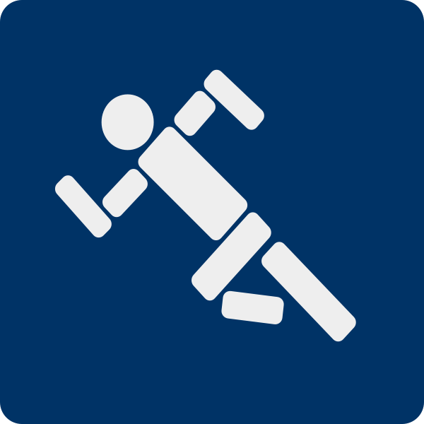 Vector clip art of sports activity pictogram