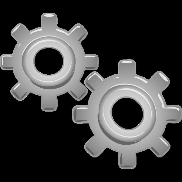Gear mechanics vector illustration