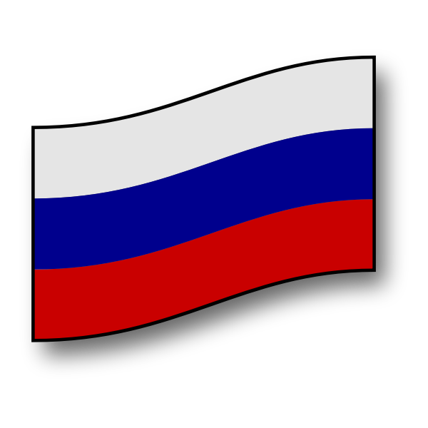 Flag of the Russian Federation vector graphics