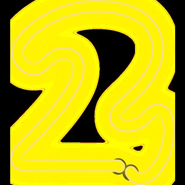 Neon Numerals-2 1