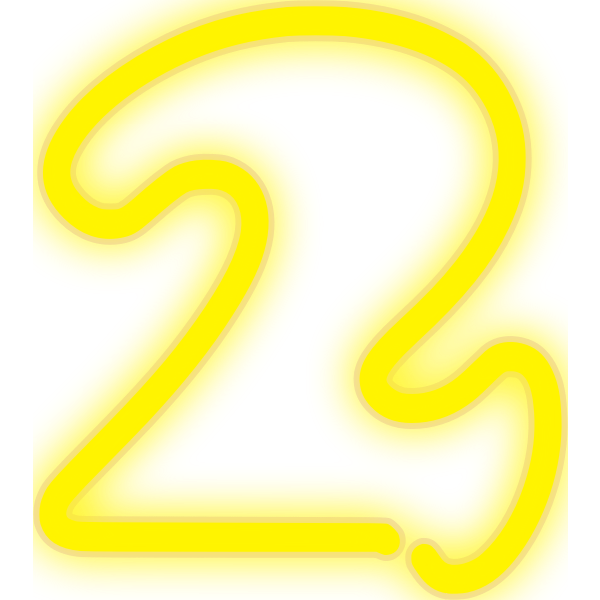 Neon Numerals-2 2