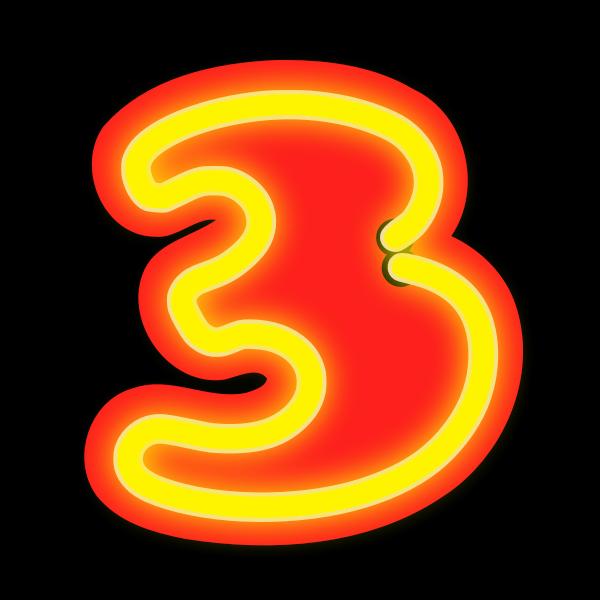 Neon Numerals-3