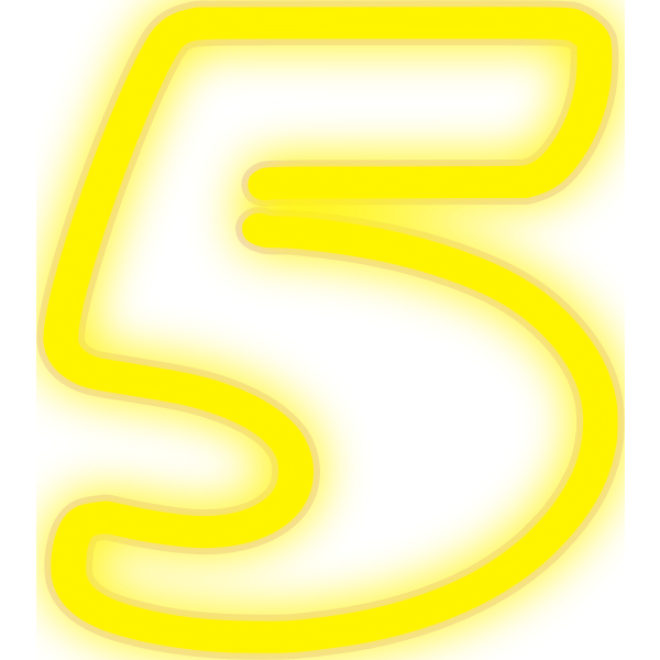 Neon Numerals-5 2