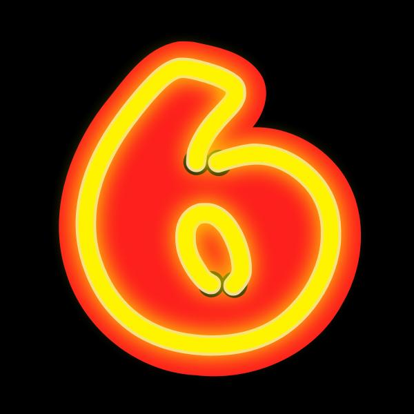 Neon Numerals-6