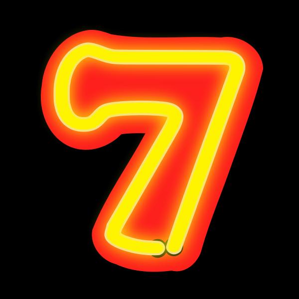 Neon Numerals-7