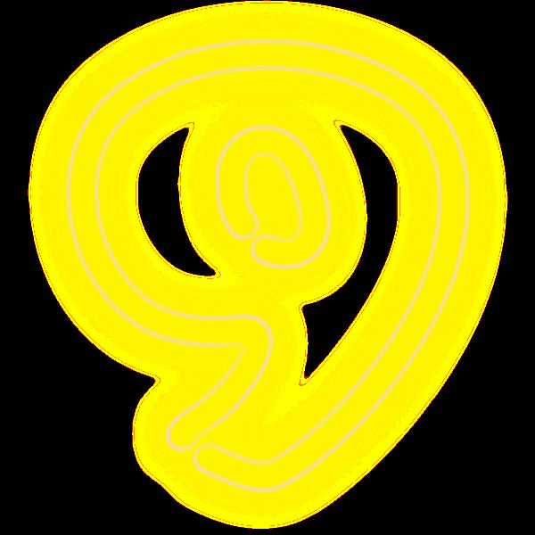 Neon Numerals-9