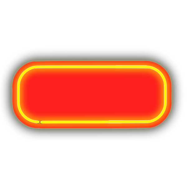 Neon red border plate