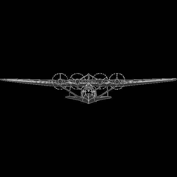 Martin M-130 flying boat vector