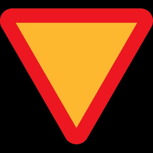 Yield traffic sign vector clip art