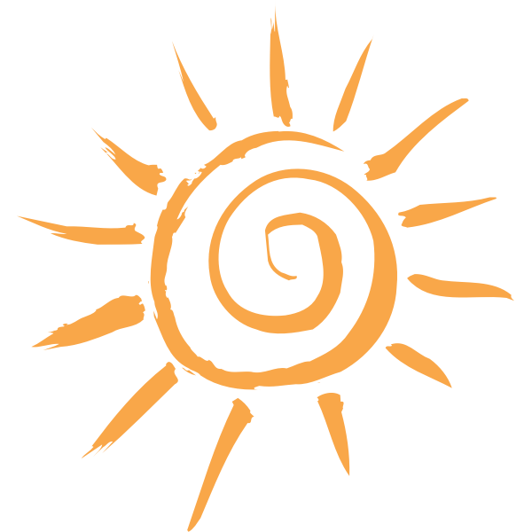simple sun motif
