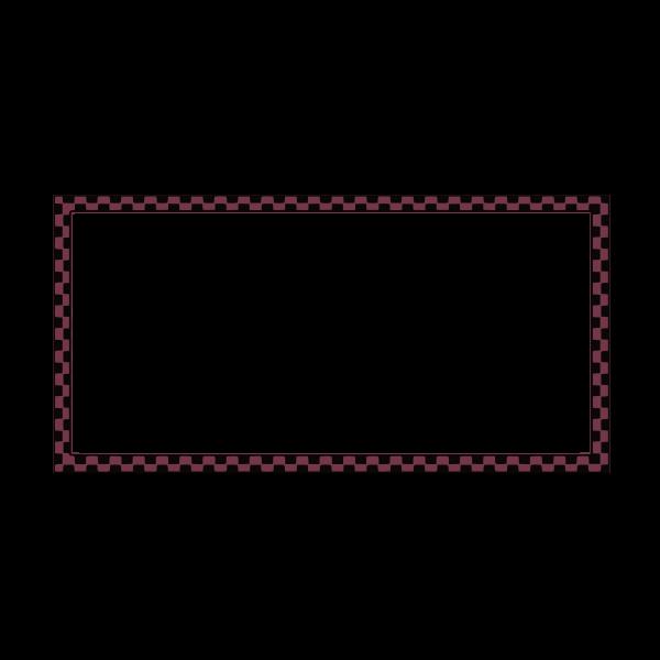 Vector clip art of purple and black checkered rectangular border