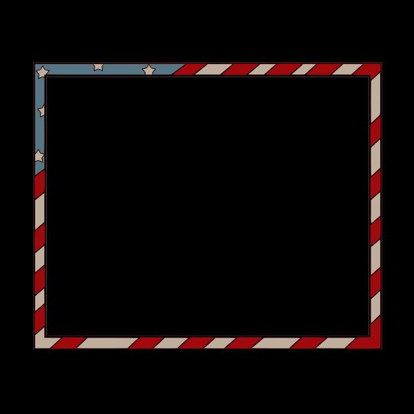 American flag style rectangular border vector image
