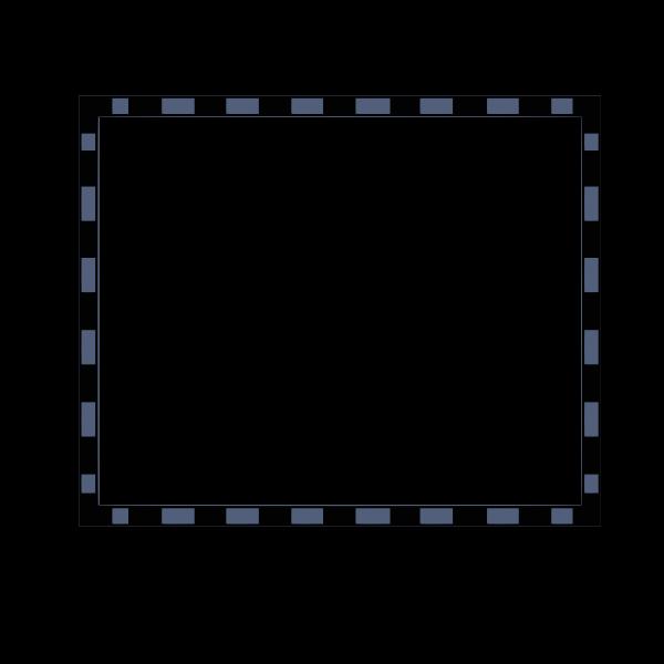 Black and blue rectangular border vector illustration