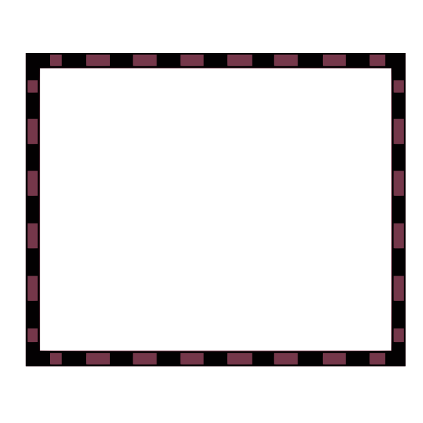 Vector image of burgundy and black rectangular border