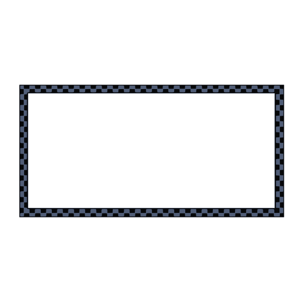 Vector graphics of black and blue rectangular border