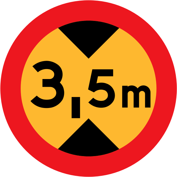 3.5 m traffic vector road sign
