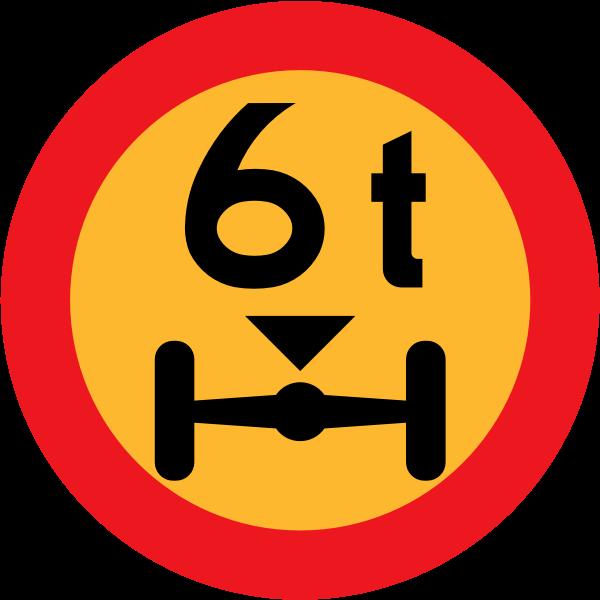 No vehicles over wheelbase vector road sign