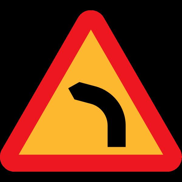 Dangerous bend, bend to left
