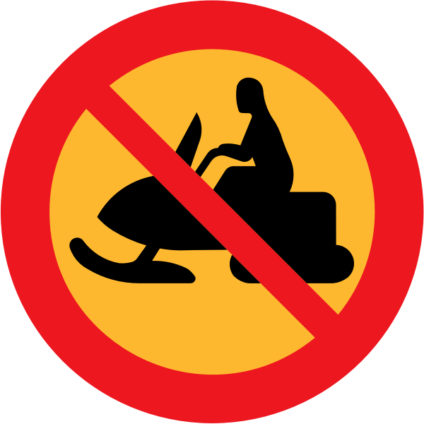 No snowmobiles vector traffic sign