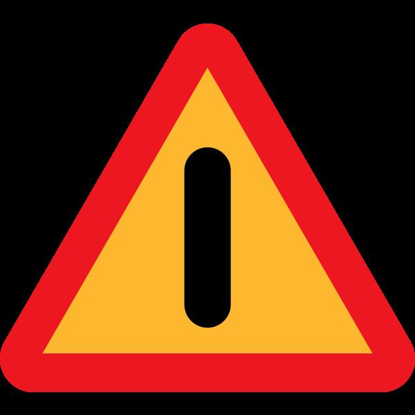 Dangers road vector sign