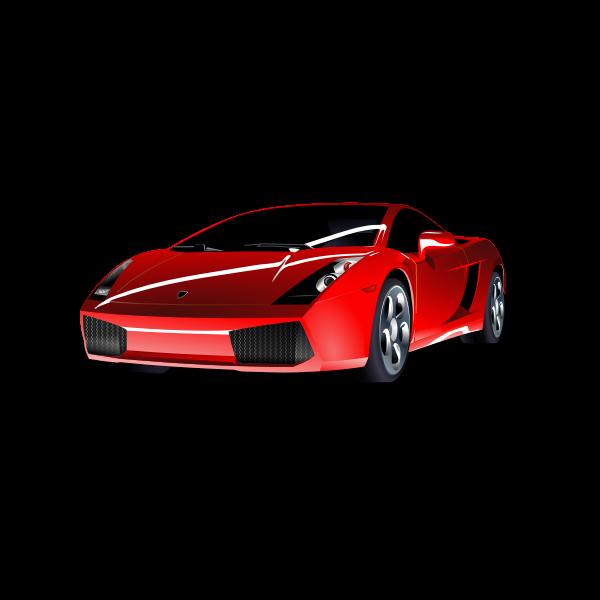 Red Lamborghini vector art