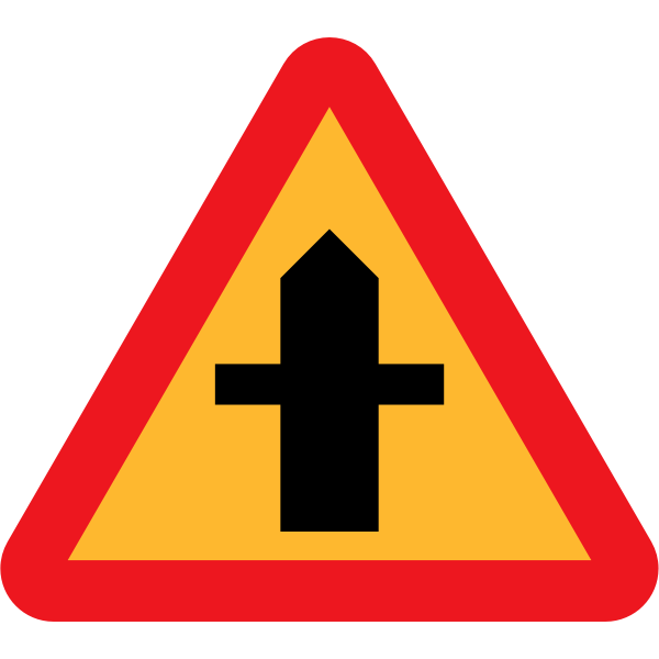Crossroad traffic sign vector image