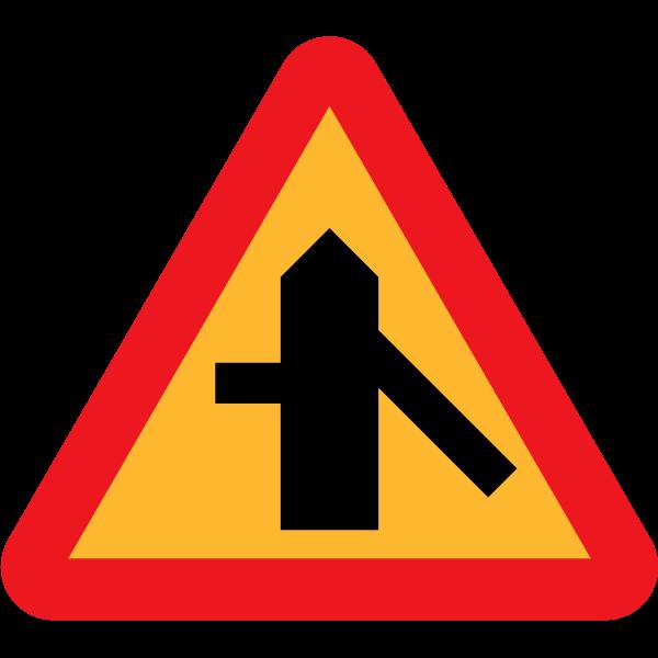 Merging traffic vector symbol